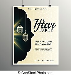 elegant invitation template for iftar party
