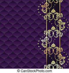 Elegant purple Rococo background