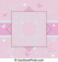 Elegant template luxury invitation, gift card