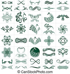 vector file of design elements more than 30 designs