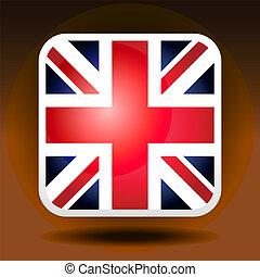 England flag ios icon style
