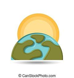 environment globe warming icon graphic
