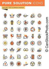 Environment thin line web icons