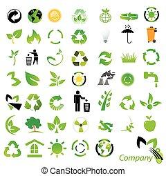 environmental / recycling icons and logos