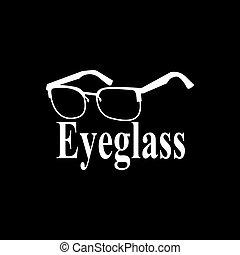 Eyeglass logo vector template illustration