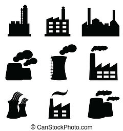 Factory, power plants and industrial buildings