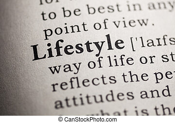 Fake Dictionary, Dictionary definition of the word lifestyle.