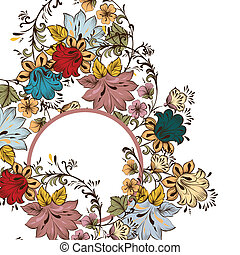 Fashion vector pattern with flower