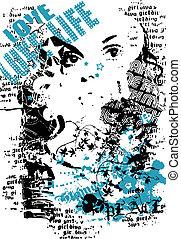 fashion woman poster design