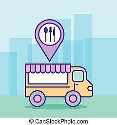 fast food truck vector illustration