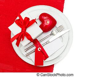 Valentines Day table place setting decoration