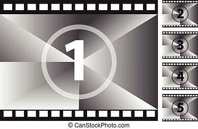 Film strips vector illustration.