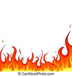 illustration of a hot burning background