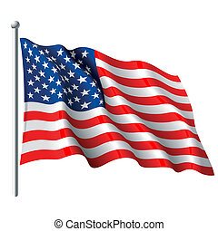 Vector illustration of flag of the USA