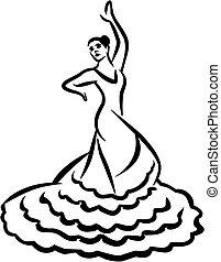 Flamenco dancer - caligraphy style