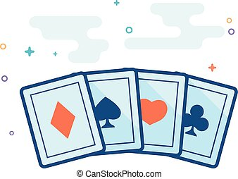 Flat Color Icon - Playing cards