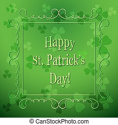 floral background for saint patrick's day - green vector