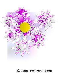 floral background into corner
