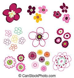 floral, flower elements
