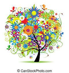 Floral tree beautiful
