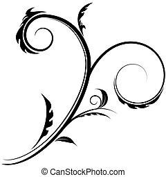 Flourish Swirl Drawing