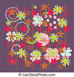 flower with leaf pattern vector art