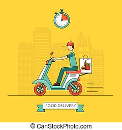 Food delivery design, vector illustration