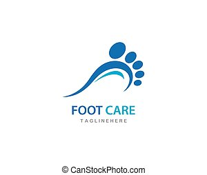 foot care ilustration Logo vector Template