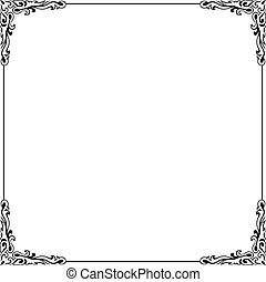 Decorative frame on white background