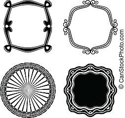 Frame Set ornamental. Vector