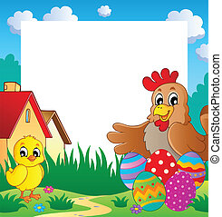 Frame with Easter theme 2