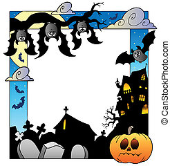 Frame with Halloween topic 5