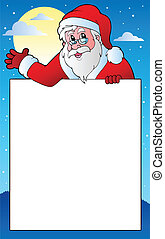 Frame with Santa Claus theme 1