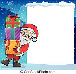 Frame with Santa Claus theme 9