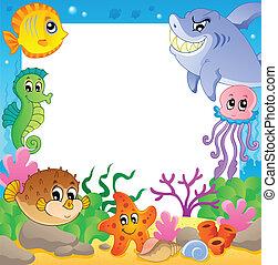 Frame with underwater animals 2