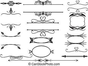 Frames with scrolls