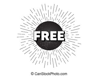 Free symbol. Special offer sign. Vector