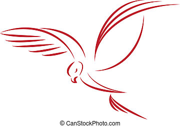 vector illustration of a eagle