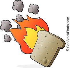 cartoon burnt toast