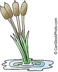 cartoon reeds
