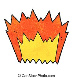 textured cartoon explosion