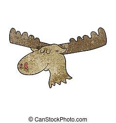 textured cartoon moose