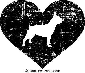 French Bulldog heart