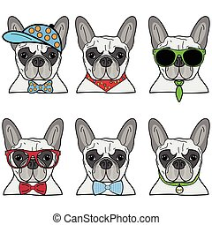 French bulldog icons