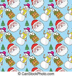 seamless pattern with christmas ite