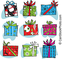 Fun and Funky Retro Christmas boxes