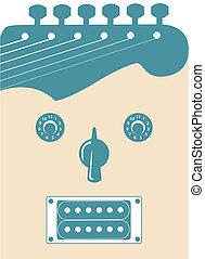 Funky guitar face