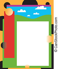 funky landscape page template