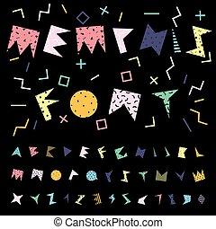Funky vector alphabet.