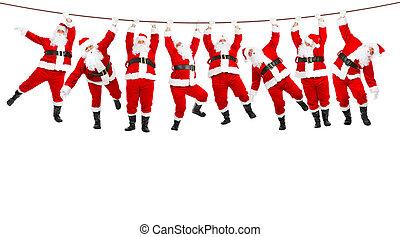 Funny Christmas Santa. Isolated over white background